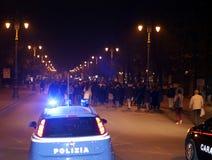 Vicenza, VI, Itália 15 de novembro de 2015, muitos povos que marcham dentro Imagem de Stock Royalty Free