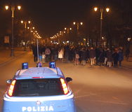Vicenza, VI, Itália 15 de novembro de 2015, muitos povos que marcham dentro Foto de Stock Royalty Free