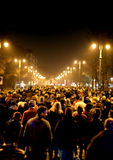 Vicenza, VI, Italië 15 die november, 2015, vele mensen binnen marcheren Stock Foto's