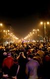 Vicenza, VI, Italië 15 die november, 2015, vele mensen binnen marcheren Royalty-vrije Stock Afbeeldingen