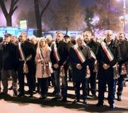 Vicenza, VI, Italië 15 november, 2015, Achille-variati Burgemeester o Royalty-vrije Stock Afbeelding