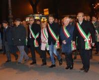 Vicenza, VI, Italië 15 november, 2015, Achille-variati Burgemeester o Royalty-vrije Stock Foto's