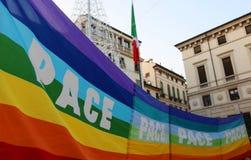 Vicenza (vi) Italia 1 de enero de 2016 Paz marzo a lo largo del stre Fotos de archivo
