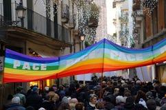 Vicenza (vi) Italia 1° gennaio 2016 Pace marzo lungo lo stre Immagine Stock