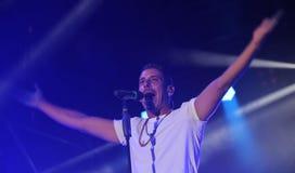 Vicenza, VI, Italia - September 5, 2017: Live Concert of GABBANI Stock Image