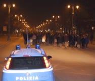 Vicenza, VI, Italien 15. November 2015 viele Leute, die herein marschieren Lizenzfreies Stockfoto