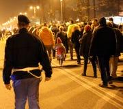 Vicenza, VI, Italien 15. November 2015 viele Leute, die herein marschieren Lizenzfreies Stockbild
