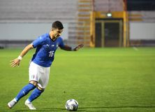 Vicenza, VI, Italien - 15. Oktober 2018: Fußballspiel Italien gegen Tunesien darunter 21 stockfotografie