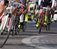 Vicenza, Vi, Italy - April 12, 2015: cyclists on racing bikes Stock Photo