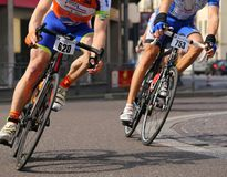 Vicenza, Vi, Italy - April 12, 2015: cyclists on racing bikes Stock Photos