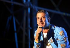 Vicenza, VI, Italy - September 5, 2017: Live Concert of GABBANI Stock Photography
