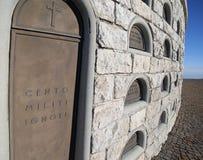 Vicenza, VI Włochy, Grudzień, - 8, 2015: Wojenny pomnik Pierwszy wojna Zdjęcia Stock