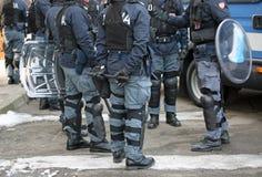 Vicenza, VI Włochy, Styczeń, - 28, 2017: Włoszczyzny policja buntuje się oddziału Zdjęcia Royalty Free