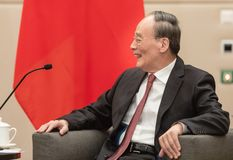 Vicepresident av Republikenet Kina Wang Qishan royaltyfri fotografi