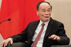 Vicepresident av Republikenet Kina Wang Qishan arkivfoto