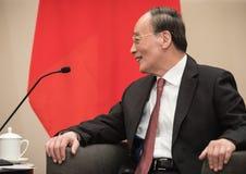 Vicepresident av Republikenet Kina Wang Qishan arkivbild
