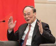 Vicepresident av Republikenet Kina Wang Qishan arkivfoton
