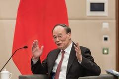 Vicepresidente della Repubblica Cinese Wang Qishan immagine stock libera da diritti