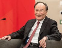 Vicepresidente della Repubblica Cinese Wang Qishan fotografie stock