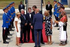 Vicepresidente José 'Joe' Biden de los E.E.U.U. llega en Belgrado Fotografía de archivo libre de regalías