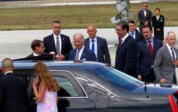 Vicepresidente José 'Joe' Biden de los E.E.U.U. llega en Belgrado Imágenes de archivo libres de regalías