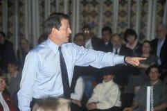 Vicepresidentet Al Gore delta i en kampanj för den demokratiska presidentnomineringen i Salem, New Hampshire, för det primärt Royaltyfria Bilder