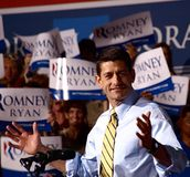 Vicepresidentkandidat Paul Ryan Arkivbilder