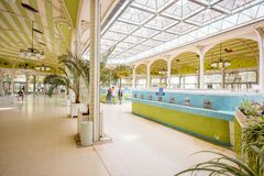 Thermal pump-room in Vichy Stock Photos