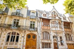 Buildings in Vichy city , France Royalty Free Stock Photo