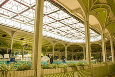 Vichy, France, fontains area. View of the inside of fontains área in the world famous spa city of Vichy, in the center of France. It is the space, a building Stock Photography