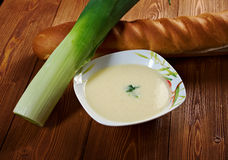Vichyssoise, traditional french soup Royalty Free Stock Photos