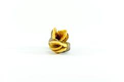 Vicia faba bean on white background Royalty Free Stock Photos