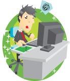 Viciado de computador ilustração stock