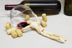 Viciado de madeira da boneca Fotos de Stock Royalty Free