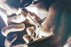 Viciado em drogas Fotografia de Stock Royalty Free