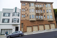 Vicinanza collinosa tipica di San Francisco, California, U.S.A. Fotografia Stock Libera da Diritti