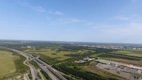 Vicinanza della vista aerea dell'arena dell'Allianz dal fuco immagini stock libere da diritti