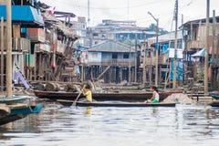 Vicinanza di Belen di Iquitos immagine stock