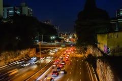 Vicinanza libertà Sao Paulo il Brasile notte settembre 2018 immagini stock