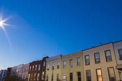 Vicinanza residenziale di Brooklyn Fotografia Stock Libera da Diritti