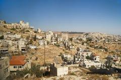 Vicinanze di Betlemme sulla collina sotto il chiaro cielo immagini stock libere da diritti