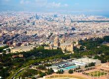 Vicinanze storiche di Barcellona, vista qui sopra fotografia stock libera da diritti