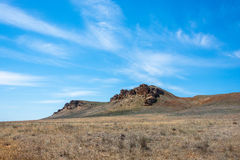 In the vicinity of the Holy mountain Big Bogdo. In the vicinity of the Holy mount Big Bogdo, Nizhniy Baskunchak, Astrakhan region, Russia stock photo