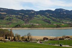 Vicinity of the village Gruyeres in Switzerland Stock Photography