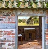 viciniy的老砖房子Ungermuizha庄园,拉脱维亚 库存照片