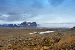 Vicino al ghiacciaio di Langjokull, l'Islanda Fotografia Stock Libera da Diritti