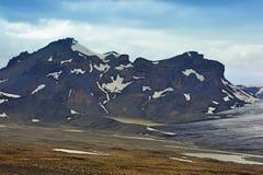 Vicino al ghiacciaio di Langjokull, l'Islanda Immagini Stock Libere da Diritti