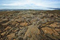 Vicino al ghiacciaio di Langjokull, l'Islanda Fotografie Stock