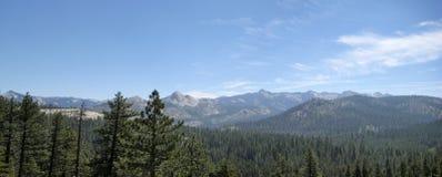 Vicino al punto del ghiacciaio a Yosemite Fotografia Stock