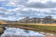 Vicino al villaggio nelle vallate di Yorkshire - inverno di Hawes Immagine Stock